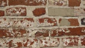 Parede velha com alvenaria antiga, fundo do tijolo filme