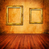 Parede velha com frame do vintage Foto de Stock