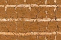 Parede velha da argila Fotografia de Stock