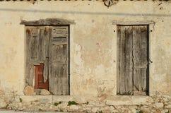Parede velha da casa Imagens de Stock