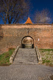 Parede velha da cidade da cidade de Sibiu, a Transilvânia, Romania Imagem de Stock