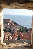 A parede velha da cidade de Dubrvonik, Croácia Fotografia de Stock Royalty Free