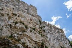 Parede velha da cidade, Jerusalém Fotografia de Stock