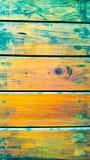 Parede velha da construção Azul e amarelo Imagens de Stock Royalty Free