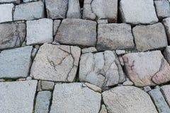 Parede velha da rocha Fotografia de Stock