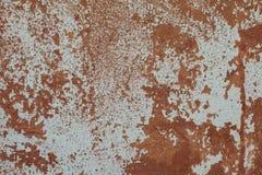 Parede velha das texturas da oxida??o com pintura Fundo perfeito com espa?o fotos de stock royalty free