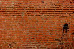 Parede velha de um tijolo vermelho imagens de stock royalty free