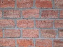 Parede velha de um tijolo vermelho grande Foto de Stock Royalty Free