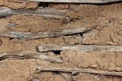 Parede velha de uma casa, textura da parede Foto de Stock