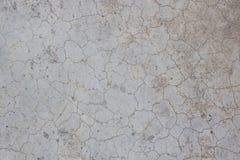 Parede velha do cimento da rachadura da textura Fotografia de Stock