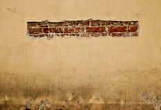 Parede velha do cimento e dos tijolos Imagens de Stock