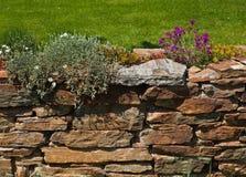 Parede velha do jardim Fotografia de Stock Royalty Free