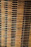 Parede velha do Lath da madeira e do fio Foto de Stock Royalty Free