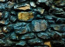 Parede velha do monastério feita da textura grande das rochas 3d, fundo Fotografia de Stock