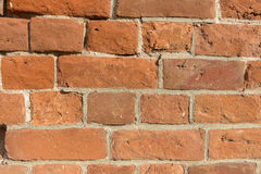 Parede velha do tijolo vermelho Fotografia de Stock Royalty Free