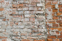 Parede velha do tijolo vermelho Foto de Stock