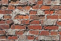 Parede velha feita do tijolo vermelho Fotos de Stock
