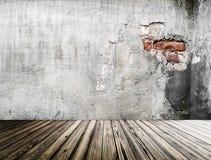 Parede velha interior rendição 3d Fotos de Stock