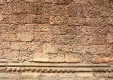 Parede velha no templo Ta-prohm Imagens de Stock