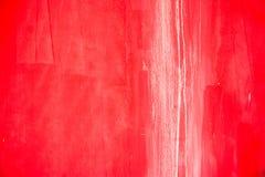 Parede velha vermelha do cimento Foto de Stock