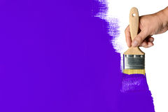 Parede verde de pintura fotografia de stock