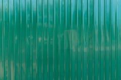 Parede verde do zinco Fotografia de Stock Royalty Free