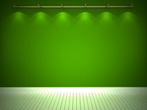 Parede verde iluminada Foto de Stock