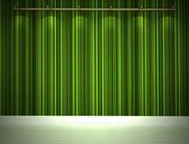 Parede verde iluminada Foto de Stock Royalty Free