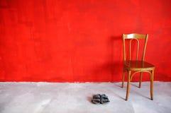 Parede vermelha Foto de Stock