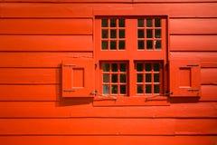 Parede vermelha Fotos de Stock Royalty Free