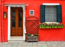 A parede vermelha Foto de Stock Royalty Free