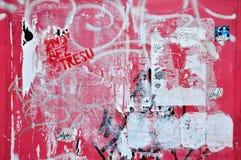Parede vermelha da cidade de Grunge Fotografia de Stock Royalty Free