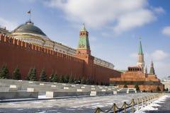 A parede vermelha de Kremlin em Moscovo Foto de Stock Royalty Free