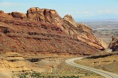 Parede vermelha Spotted Wolf Canyon fotografia de stock royalty free