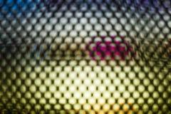Parede video colorida brilhante do diodo emissor de luz com teste padrão saturado elevação - fundo ascendente próximo com profund foto de stock royalty free