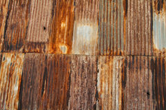 Paredes aherrumbradas de edificios de Humberstone Foto de archivo