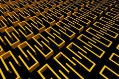 Paredes amarelas abstratas Imagem de Stock