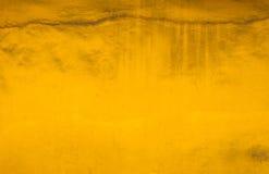 Paredes amarelas velhas da poeira fotos de stock royalty free