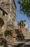 Paredes antigas da cidade de Altomonte Foto de Stock