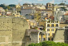 Paredes antigas de Roma Fotos de Stock Royalty Free