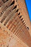 Paredes antiguas del castillo Imagen de archivo libre de regalías