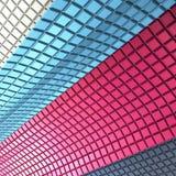 Paredes coloridas del cubo Imagen de archivo libre de regalías