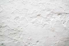 Paredes com textura whitewashed cal do fundo Imagens de Stock Royalty Free