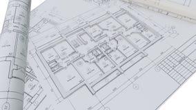 Paredes construidas de una casa en dibujos de construcción libre illustration