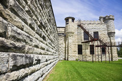 Paredes da cadeia histórica em Joliet fotos de stock royalty free