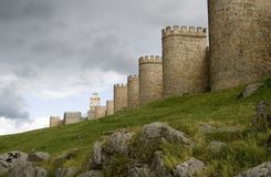 Paredes da cidade de Avila Imagem de Stock Royalty Free