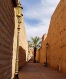 Paredes da cidade de C4marraquexe Medina - cidade fortificada velha fotografia de stock