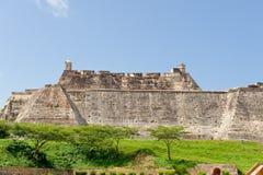 Paredes da cidade de Cartagena Imagem de Stock Royalty Free
