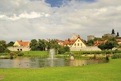 Paredes da cidade de Visby fotografia de stock