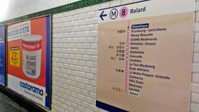Paredes da estação de Balard foto de stock